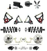 1955-1957 Chevy Belair Disc Brake Kit Wilwood Calipers Coil Over And Control Arms
