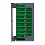 78h Gray Quickview Storage Cabinet W/18 Bins Green 1 Ea