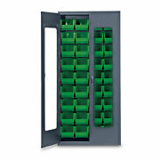 78h Gray Quickview Storage Cabinet W/36 Bins Green 1 Ea