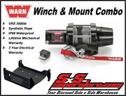 3500lb Warn Vrx 35-s Winch Mount Combo Yamaha Grizzly 550 2009-14 700 2007-15