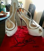 Louboutin Cupidivipi White 6.5 Preowned Good Condition