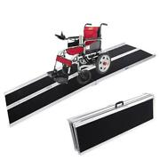 3/4/6/8ft Folding Aluminum Wheelchair Ramp Portable Mobility Scooter Carrier