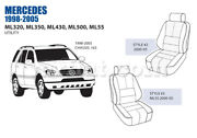 Mercedes Ml Class Front Leather Seat Cover Set 2000-05 Oem New