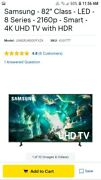 Samsung Uhd Tv 8 Series With Premium Wall Mount And In-wall Cables.