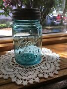 Pint Blue Ball Perfect Mason Fruit Jars Canning Vintage Rare Size Mold 2 And 8