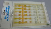 Ho Plasticville Item No. 42-2304 Rail Road And Street Signs Yelllow And White Nos