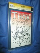 Mighty Thor 1 Cgc 9.8 Ss Signed/original Art Sketch By Dick Ayers Loki/thor