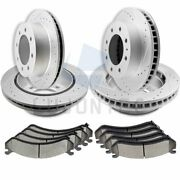 Brake Ceramic Pads And Rotors Front And Rear For 2008-2010 Gmc Sierra 3500 Hd