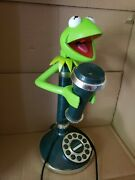Vintage Kermit The Frog Candlestick Corded Telephone