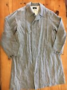 Madewell Chimala Standfall Coat In Gray Linen Size Large 725