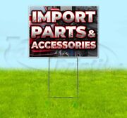 Import Parts And Accessories Yard Sign Corrugated Plastic Bandit Lawn Decor Usa