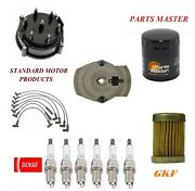 Tune Up Kit Oil Fuel Filters Wire Spark Plugs For Gmc C35 L6 4.1l W/ High 1975