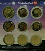 Official New Zealand Lord Of The Rings 9 Coins 2003 Elizabeth Ii