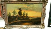 F. E. Jamieson 1889 - 1950 England Oil On Canvas Antique 35 X 25 Inches