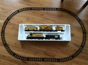 Big State Caterpillar Train Set Toy State 1995 Engine Caboose Load Construction
