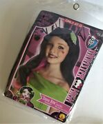 Monster High Child Draculaura Wig New Snow Bite Girls Costume Scarily Ever After