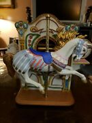 Vintage Tobin Fraley 1987 L.e. Wurlitzer American Carousel With Music Boxmint