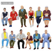 G Scale Model Figures 122.5-125 Seated Painted People Railway Layout P2509
