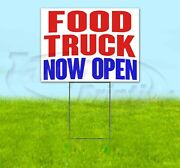 Food Truck Now Open Yard Sign Corrugated Plastic Bandit Lawn Decorations