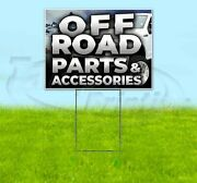 Off Road Parts And Accessories Yard Sign Corrugated Plastic Bandit Lawn Decor
