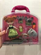 Disney Store Animatorand039s Collection The Frozen Anna Mini Doll Play Set Preowned