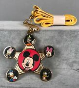 Mickey Mouse And Friends Trading Pin Lanyard And Pendant - Disney Le 1000 New