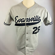Vintage Evansville Indiana Sewn Game Used Baseball Jersey Outlaws Pro University