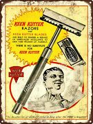 1930 Keen Kutter Safety Razor Blades Simmons Metal Sign 9x12 A315