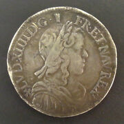 Louis Xiv 1643-1715 1/2 Andeacutecu To The Wick Long 1658 F Angers R3