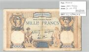 Banknote 1000 Francs Ceres And Mercury - 20-10-1938