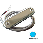 Shadow-caster Courtesy Light W/2and039 Lead Wire 316 Ss Cover Bimini Blue 4-pack S...