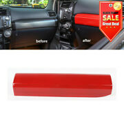 Red Front Co-pilot Dashboard Panel Cover Trim For Toyota 4runner 2010-2019
