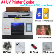 A4uv Printer 6color Epson L800 Head For Phone Case Metal Glass Signs 3d Embossed
