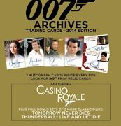 James Bond Archives 2014 Sealed Case Of 12 Boxes Of Trading Cards