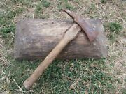 Vtg Ww1 Wwii Rare German Engineer Sapper Pioneer Trench Axe Pickaxe Tomahawk