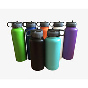 Stainless Steel Water Bottle Wide Mouth Tumbler Travel Mug Coffee With Straw Lid