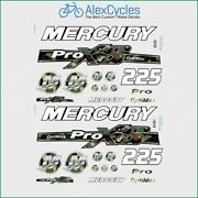 225 Hp Mercury Optimax Proxs Outboadrs Motor Camo Forest Laminated Decals Boat