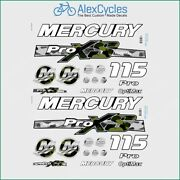115 Hp Mercury Optimax Proxs Outboadrs Motor Camo Green/black Laminated Decals