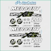 200 Hp Mercury Optimax Proxs Outboadrs Motor Camo Green/black Laminated Decals