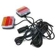 12v Led Submersible Trailer Light Tail Turn Kit For Towing Motorcycle Rv