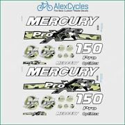 150 Hp Mercury Optimax Proxs Outboadrs Motor Camo Black/green Laminated Decals