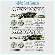 225 Hp Mercury Optimax Proxs Outboadrs Motor Camo Green Laminated Decals Boat