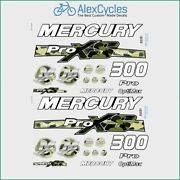 300 Hp Mercury Optimax Proxs Outboadrs Motor Camo Green Laminated Decals Boat