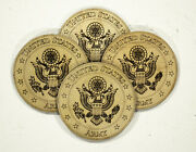 4in Us Army Military Coaster Laser Engraved Wood A4f