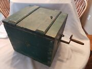 Rare Antique Barn Find 1800's Wooden Shaker Rotary Butter Churn- Orig Paint