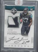 Leonard Fournette 2017 Limited Silver Holo Rpa Rookie Patch Auto Rc D 2/50