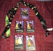 5x Disney Mickey's Not So Scary Halloween Party 2019 Limited Ed Pins And Lanyard