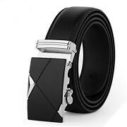 Men Belt Male Genuine Leather Strap Belts Automatic Buckle Casual Waistband Us 1