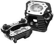 S And S Cycle Super Stock Cylinder Heads Black 90-1504