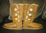Uggs Bailey Button Boots Size 7 Fits Size 8. Chestnut Color.